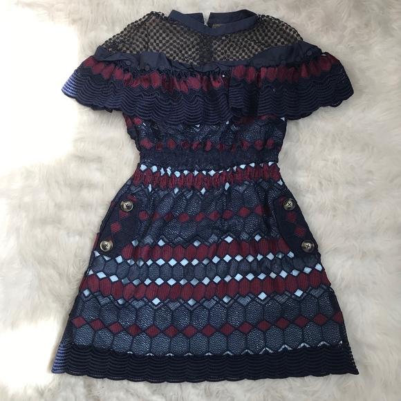 74d74563eb7b8 Self-Portrait Dresses | Self Portrait Hexagon Lace Mini Dress | Poshmark